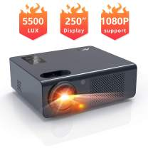 """Movie Projector- Artlii Energon 2020 Home Theater Projector with HiFi Stereo and Lens Zooming, 250"""" Vital Outdoor Projector Support 1080P, Compatible with Fire TV Stick, PS4, HDMI, USB Remote Learning"""