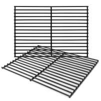 """Hongso 16 5/8"""" Porcelain Steel Grill Grate Cooking Grid Replacement Parts for Thermos 461252605, Kirkland Front Avenue 463230703, Charbroil 463261306, Kenmore, Kmart Gas Grill, 2-Pack (PCB932)"""