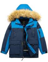 Wantdo Boy's Waterproof Ski Jacket Winter Thick Parka Coat Breathable Raincoats