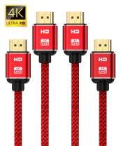 4K HDMI Cable 15ft-2Pack,Capshi High Speed 18Gbps HDMI 2.0 Cable supports (4K@60HZ, 2160P, 1080P, 3D, Ethernet - Braided HDMI Cord - Audio Return(ARC) Compatible UHD TV, Blu-ray, X-Box PS4/3 ect)