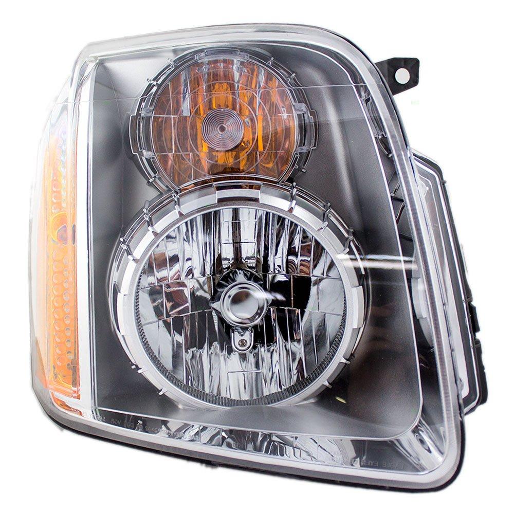 Aftermarket Replacement Passenger Headlight Compatible with 2007-2014 Yukon Denali & Yukon XL Denali 20969897