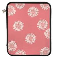 Erin Condren Medium Planner Folio - Daisies (Salmon, Cherry Blossom, Ivory), Perfect Organizer for Documents, Planners, and Notebooks. Portfolio Case Holder with Zipper and Inner Pouch