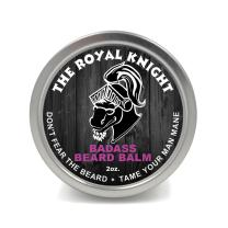 Badass Beard Care Beard Balm - The Royal Knight Scent, 2 oz - All Natural Ingredients, Keeps Beard and Mustache Full, Soft and Healthy, Reduce Itchy and Flaky Skin, Promote Healthy Growth