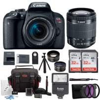 Canon EOS Rebel T7i Digital Camera: 24 Megapixel 1080p HD Video DSLR Bundle with Wide Angle 18-55mm Lens 64GB Mini Tripod Filter Kit & Flash - Professional Vlogging Sports & Action Cameras