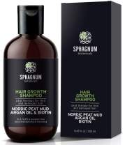 Argan Oil Hair Loss Shampoo - with Biotin and Peat Mud - Organic DHT Blocker - No SLS, Parabens, Sulfate-Free - Effective Hair Growth and Thickening Treatment for Thinning/Damaged Hair