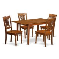 5 PC Kitchen dinette set Table with Leaf and 4 Kitchen Dining Chairs