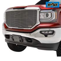 EAG Aluminum Billet Grille Replacement Insert logo Covered Fit for 2016-2017 GMC Sierra 1500