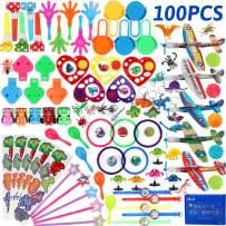 nicknack Pinata Filler Toys 100pcs Party Favor Assortment for Kids Birthday Prizes Box Toy for Classroom Rewards,Treasure Box Prizes,Carnival Prizes