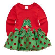 Sooxiwood Baby Girls' Dress Lace Christmas Tree