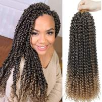 Julia Passion Twist Hair 18 Inch Water Wave 6 Packs Synthetic Braids for kanekalon Passion Twist Crochet Braiding Hair Goddess Locs Long Bohemian Locs Hair Extensions (18inch, T27)