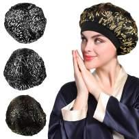 4PCS Glitter Bonnet for Women Natural Curly Hair,B