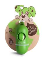 ChampionLife Leash Dispenser for Dog Waste Bags, including 15-Count Cherry-scented Dog Waste Bags