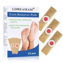 Corn Remover,Foot Corn Remover Pads, Corn Callus Remover Cushions,Corn Plaster with Hole,Corn Remover Pads for Foot Corn Removal Reduces Pain,24 Pads
