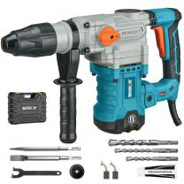 Berserker Rotary Hammer Drill 1-1/4 Inch SDS-MAX 13 Amp Safety Clutch 3 Function Vibration Control 630 RMP 3800 BPM 9 Joules Impact Energy