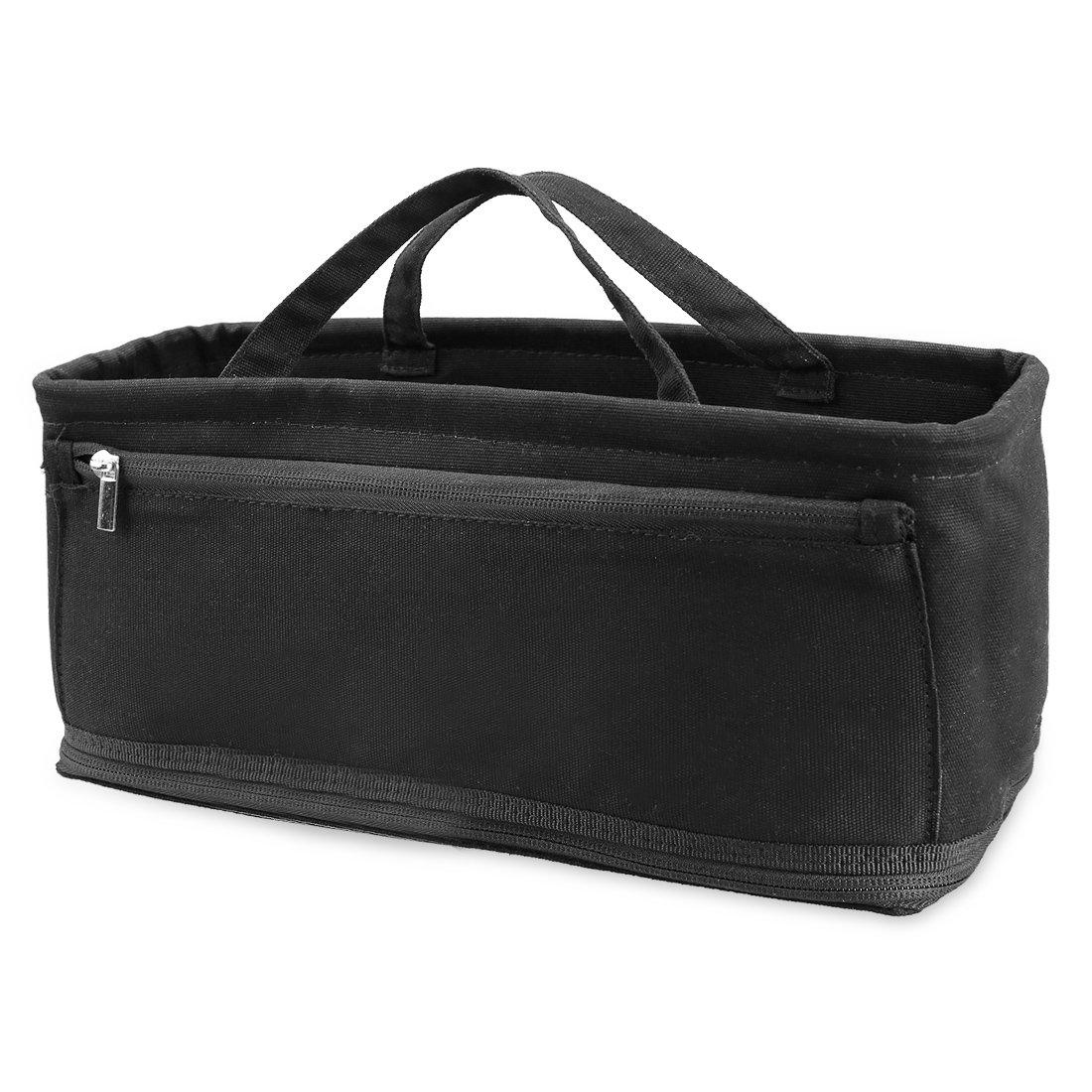 Ava & Kings Handbag Purse Organizer Insert Multipocket Large Tote Bag Shaper | Fits XL Handbags, Diaper Bags, Backpack | Organize & Structure Any Bag - Solid Black