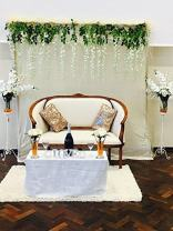 TRLYC Fashion Design Ivory Sequin Wedding Backdrop-7FT x 7.5FT
