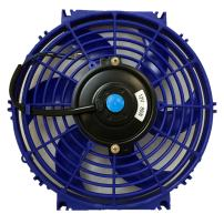 Upgr8 Universal High Performance 12V Slim Electric Cooling Radiator Fan With Fan Mounting Kit (10 Inch, Blue)