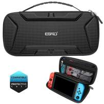 EGRD Carrying Case Compatible with Nintendo Switch-Deluxe Protective Portable Hard Shell Travel Carrying Case Pouch for Nintendo Switch Console and Accessories with Holder Design-Black