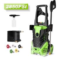 Homdox 2850 PSI Power Washer Electric Pressure Washer 1.7 GPM 1800W Professional Power Washer Cleaner with 5 Nozzles (Green)