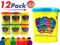 JA-RU Wonder Dough (Pack of 12) and 1 Bouncy Ball Bundle Assorted Colorful Super Mega Soft Item #1331-12p