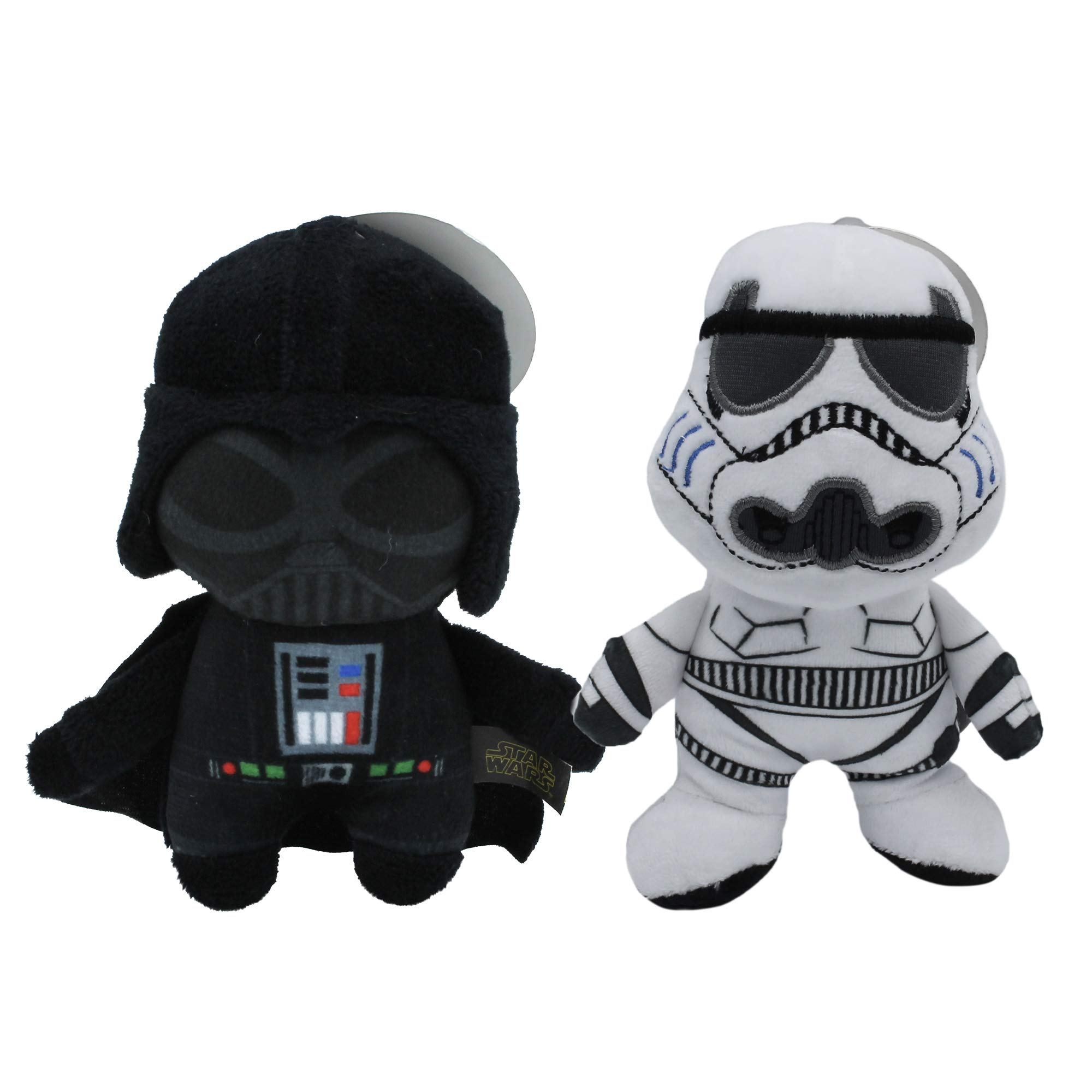Star Wars Dog Toys Combo Pack Darth Vader and Storm Trooper Medium Size Dog Toys | Two Dog Plush Toys, Star Wars Dog Chew Toys for All Dogs | Cute and Soft Star Wars Plush Toys for Dogs