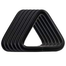 BIKICOCO 1'' Metal Triangle Ring Buckle Connectors Non Welded Round Edge Webbing Bag Clasp Handbag Strap Making Hardware, Black - Pack of 6