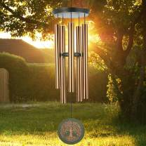 "Howarmer Large Wind Chimes Outdoors Deep Tone,36"" Metal Memorial Wind Chimes Tree of Life in Memory of Loved One,Sympathy Wind Chimes Outside for Mother Father,Garden Home Yard Hanging Chimes Decor"