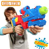 Water Gun for 6 7 8 Years Old Kids Adults,Squirt Guns Water Guns for Adults 1200CC Large Capacity Water Blaster Squirt Gun, 39ft Long Range Summer Outdoor Water Fighting Toy for Swimming Pool Party