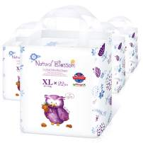 Natural Blossom - Disposable Hypoallergenic Easy Pull Up Pants Baby Diapers, Size 5 (26-37lbs), 22pcs, 4 Packs, Count 88