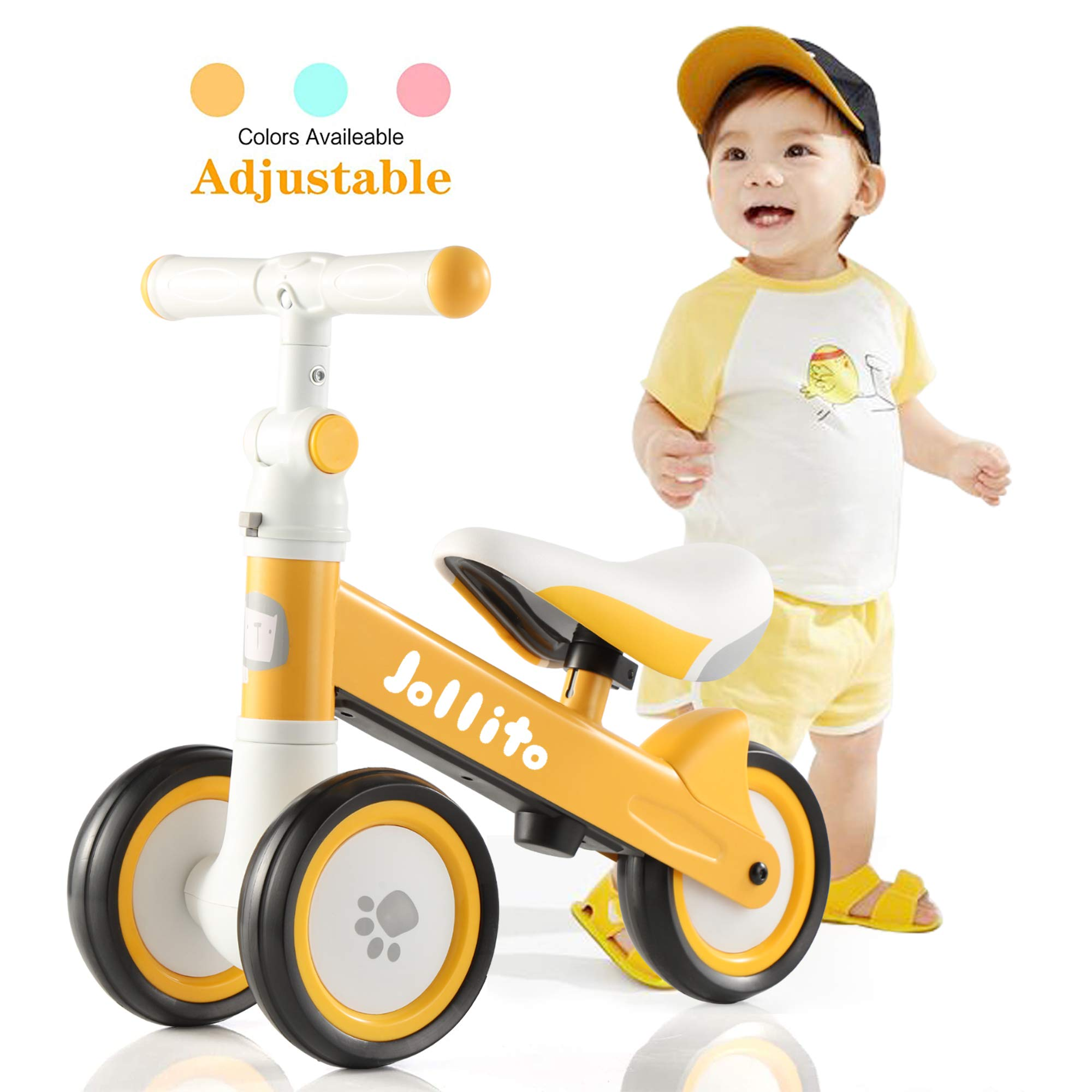 Baby Balance Bike for 10-24 Months-Adjustable Baby Bike,Sturdy Balance Bike for 1 Year Old Boy Girl, Best First Birthday Gifts, Safe Riding Toys for 1 Year Old Girl Boy Toddler Baby Bicycle