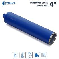 """TOOLGAL Diamond Core Drill Bit 4"""" for Masonry - Wet drilling of Concrete/Reinforced concrete - Laser Welded Diamond Segmented - 11/4"""" UNC for fixed or hand-held core drilling machines"""