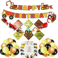 Jellydog Toy Construction Birthday Party Supplies, 47 Set Construction Theme Party Decorations, Dump Truck Party Decorations Kits Set for Kids