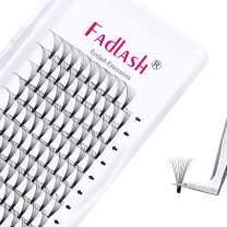 Premade Lash Fans 10D 0.07 Volume Eyelash Extensions C Curl 14mm Volume Lashes Premade Short Stem Lash Extension Supplies (10D-0.07-C, 14mm)