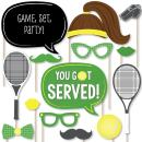 Big Dot of Happiness You Got Served - Tennis - Baby Shower or Tennis Ball Birthday Party Photo Booth Props Kit - 20 Count