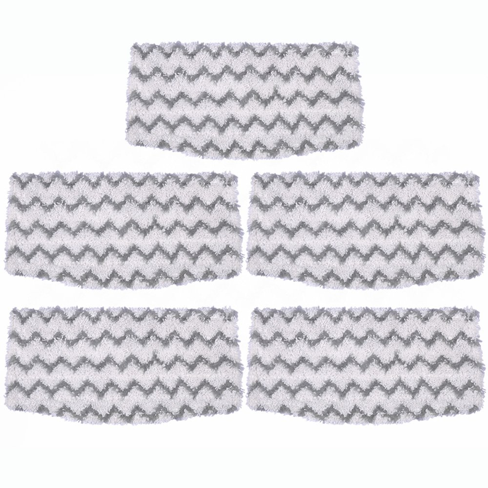 KEEPOW Steam Mop Pads Replacement for Shark Dirt Grip Microfiber Pads S1000 S1000A S1000C S1000WM S1001C Vacuum Cleaner, 5 Packs