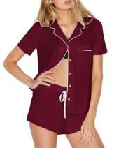 Bloggerlove Womens Modal Short PJ Set Ultra-Soft Button-Front Pajamas Set