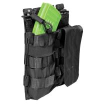 5.11 Tactical AK Double Bungee Cover Magazine Pouch, Waterproof Coating, Non-Slip Tabs, Style 56159