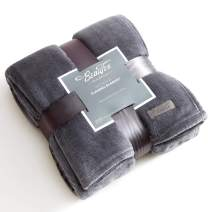 "BEAUTEX Fleece Throw Blanket for Couch Sofa or Bed Throw Size, Soft Fuzzy Plush Blanket, Luxury Flannel Lap Blanket, Super Cozy and Comfy for All Seasons (Graphite Grey, 50"" X 60"")"