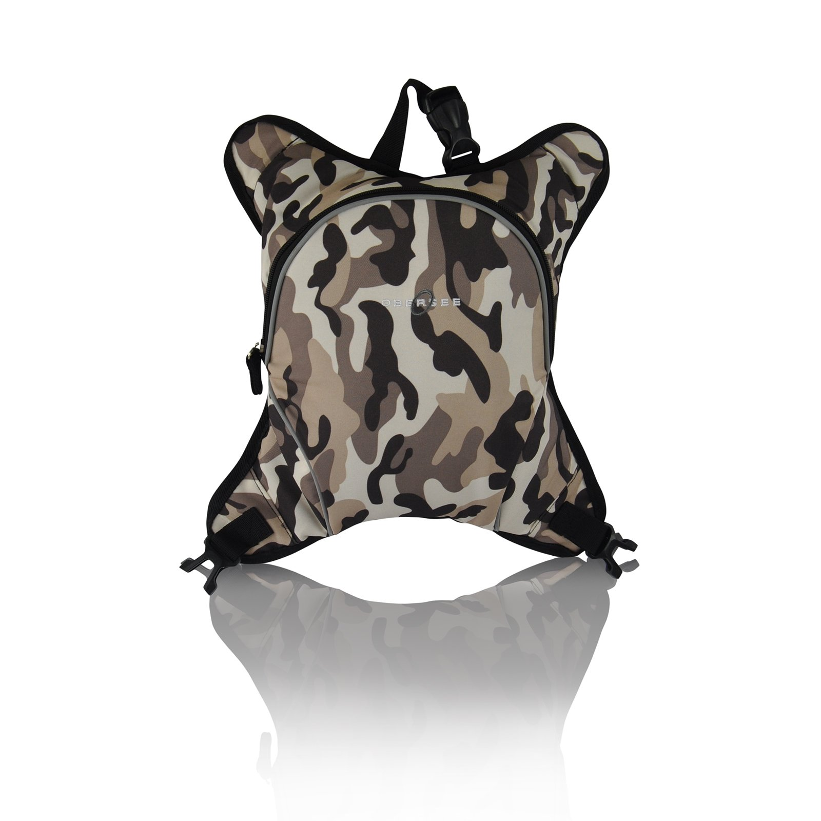Baby Bottle Cooler Attachment for Obersee Backpack or Bag, Insulated Baby/Tot Bottle Carrier Camo