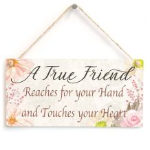 """Meijiafei A True Friend Reaches for Your Hand and Touches Your Heart - Beautiful Gift Sign Meaningful Friendship Present 10"""" X 5"""""""