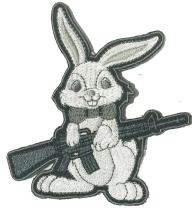 Evil Easter Bunny AR-15 Tactical Morale Patch