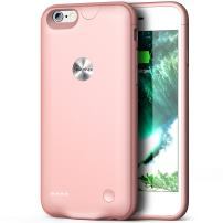 iPhone 6 6s Battery Case,Smiphee 2500mAh Portable Charging Case iPhone 6 6s(4.7 inch) Extended Charger Case (Rose Gold)