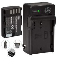 BM Premium DMW-BLF19, DMW-BLF19e, DMW-BLF19PP Battery and Battery Charger for Panasonic Lumix DC-G9, DC-GH5, DMC-GH3, DMC-GH3K, DMC-GH4, DMC-GH4K Digital Camera