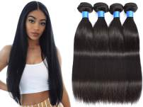 """INNATE COLLECTION CHARIS Brazilian Human Hair Bundles 4 Straight Remy Bundles Hair 100% Unprocessed Human Hair Extensions Weaves Hair Products Natural Color 95-100g/pc (22""""22""""22""""22"""")"""