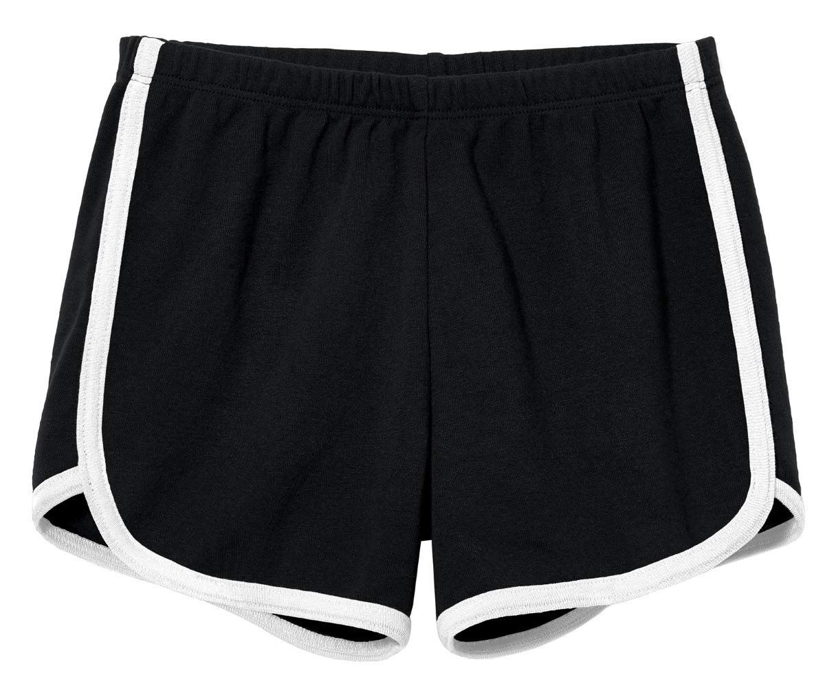 City Threads Girls Running Workout Shorts Yoga Sport Fitness Short 100% Cotton - Made in USA