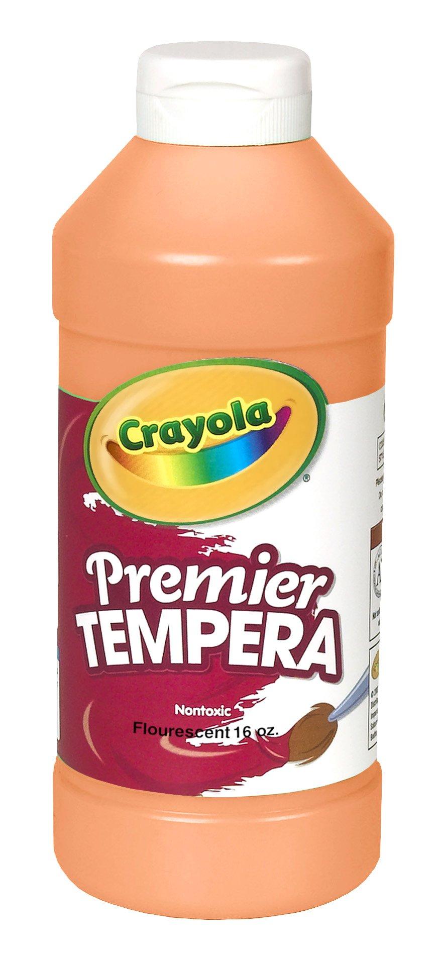 Crayola Tempera Paint, Fluorescent Orange, 16 Ounces, Kids Paint