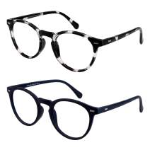Gift Package 2 Pairs of Invisible Bifocal Reading Glasses, Photochromic Gray Sunglasses, 1.00/+4.00 Magnification for Men/Women