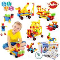VATOS STEM Toys, 316 PCS Creative Educational Building Toys Kit Construction Engineering Learning Block Set for Ages 3 4 5 6 7 8 9 10 Years Old Boys & Girls | Best Toy Gift for Kids Birthday