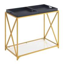 Convenience Concepts St. Andrews Console Table, Black / Gold