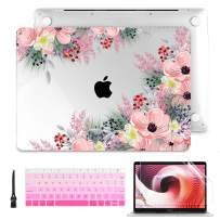 Batianda MacBook Pro 13 inch Case 2019 2018 2017 2016 Clear Hard Shell Keyboard Cover Screen Protector Clean Brush for New Mac Pro 13.3'' w/Without Touch Bar A2159 A1989 A1706 A1708,Beautiful Floral